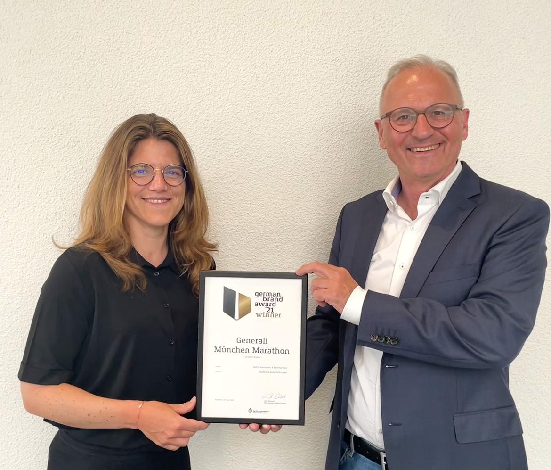GENERALI MÜNCHEN MARATHON gewinnt beim German Brand Award 2021